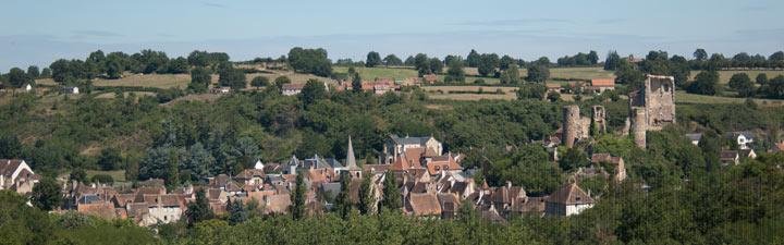 Le village de Hérisson dans la vallée de l'Aumance