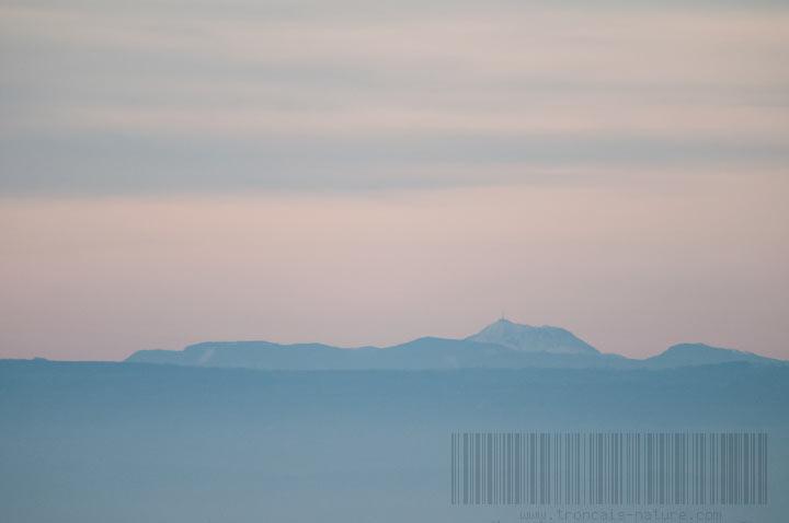 Vue sur le puy de Dôme au Vilhain